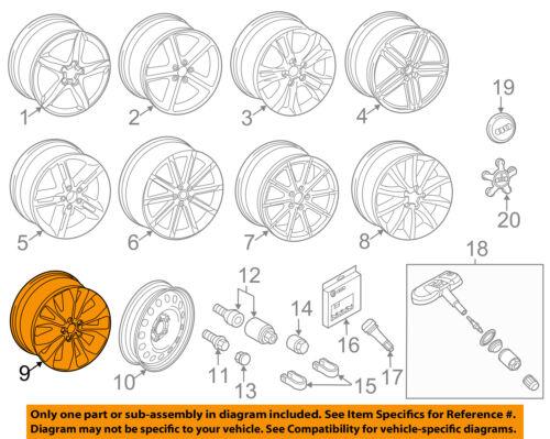 AUDI OEM 09-16 A4 Quattro-Wheel-Alloy Aluminum 8K0601025P