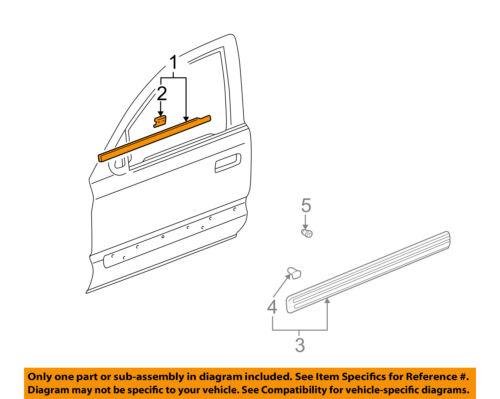 Genuine Honda 72410-S10-003 Door Molding Assembly