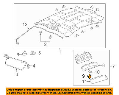 GM OEM Interior-Roof-Dome Lamp Bulb 92076164