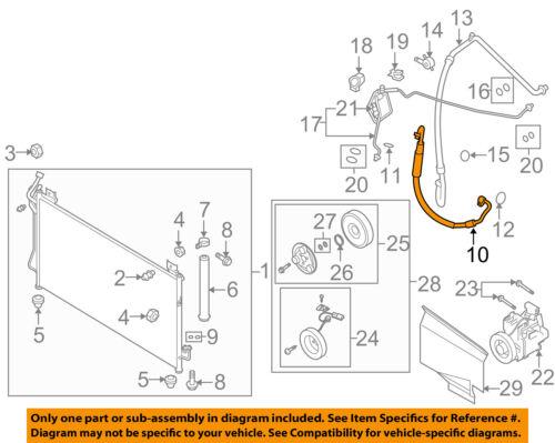 MAZDA OEM 09-10 CX-7 2.3L-L4 Air Conditioner-Discharge Hose EG2261461A