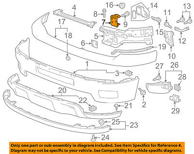 Chevrolet GM OEM Silverado 2500 HD Front Bumper-Inner Bracket Right 25883353