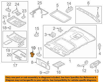 AUDI OEM 11-17 A8 Quattro Interior-Roof-Holder 4G0857562DX6