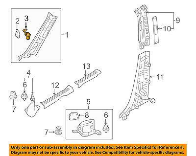 MAZDA OEM 16-17 CX-9 Interior-Wndshld Pillar Trim Clip D09W68162