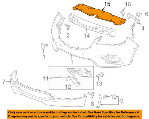 Buick GM OEM 16-18 Envision-Bumper Trim-Reflector Right 22855658