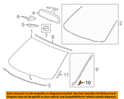 Acura HONDA OEM 14-17 MDX Windshield-Side Molding Fastener 73153TZ5A01