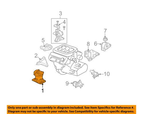 details about acura honda oem 03 06 mdx engine motor mount torque strut 50800s3va03 tl engine diagram 2003 acura mdx power
