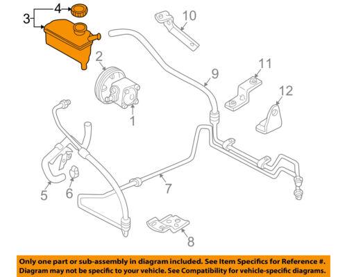 Volvo Oem 99 04 V70 Power Steering Reservoir 30665496 Ebay
