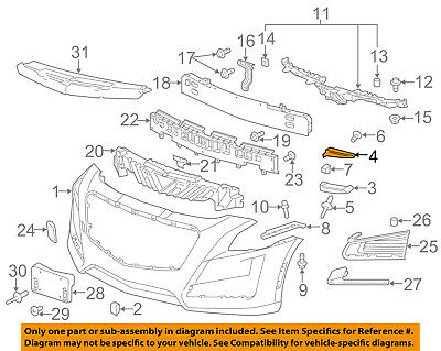 Cadillac GM OEM 14-18 CTS Front Bumper-Guide Right 23180174