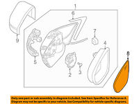 For VW Beetle Jetta Driver Left Heated Mirror Glass Genuine 5C6-857-521-J