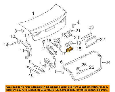 AUDI OEM 17-18 A3 Quattro Trunk Lid-Release Switch 8V0827566B