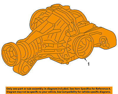 PORSCHE OEM 2006 Cayenne Rear Suspension-Differential Assembly 95533201030