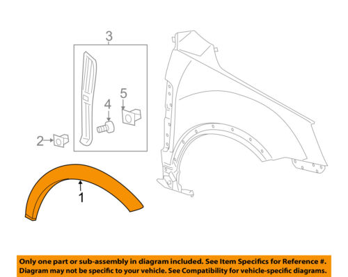 OEM GM Front Driver Side Fender Wheel Flare Opening Arch Molding Encore 95275468