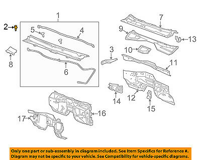 GM OEM-Cowl Grille Clip 11589289