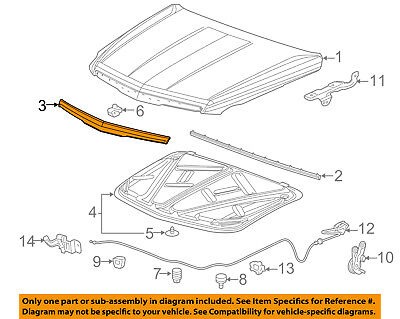Cadillac GM OEM 15-16 Escalade Hood-Front Molding Trim 22956470