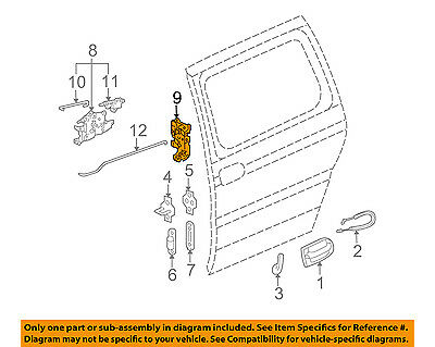 GM OEM Rear Door-Lock or Actuator Latch Release 10347138