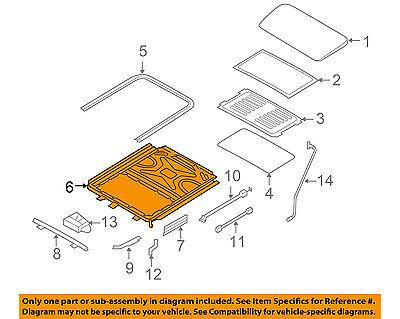BMW OEM 08-14 X6-Sunroof Frame 54107189245