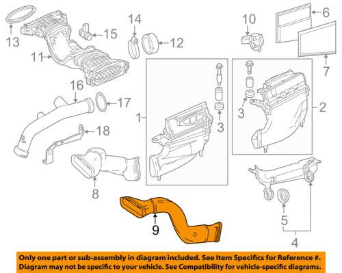 OEM# 6420948797 Mercedes Benz GL350 ML350 Diesel 4M Fits Air Intake Hose Left