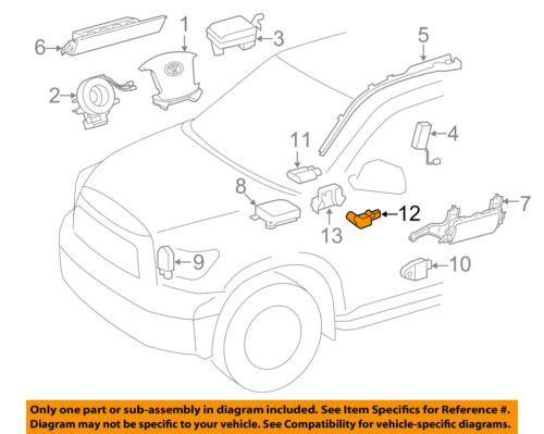 Toyota Oem 0511 Camry Airbag Air Bag Srsposition Sensor 8917806030 Rhebay: 2005 Toyota Camry Airbag Sensor Location At Gmaili.net