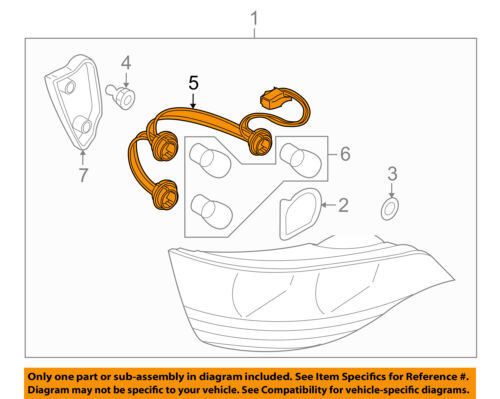 Audi oem 07 09 q7 taillight tail light lamp rear wire harness 5 on diagram only genuine oe factory original item asfbconference2016 Gallery
