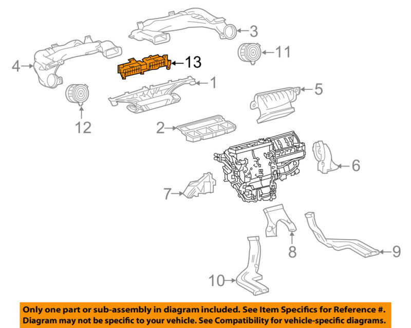 Scion Toyota Oem 2016 Im Dash A/c Ac Heater-air Vent Outlet Assy 5567012540c0