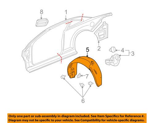 Set Of 2 LH /& RH Side Front Inner Fender Splash Shield Liner Fits GMC Terrain