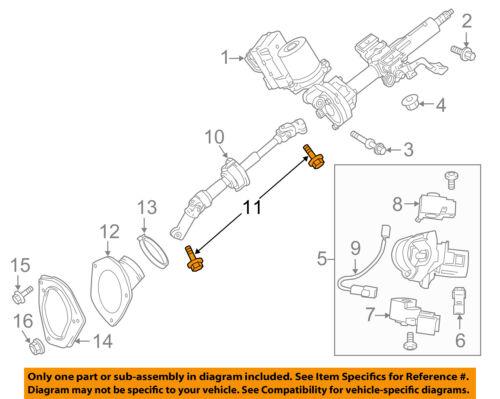 Details about TOYOTA OEM Steering Column-Intermed Shaft Bolt 9008011555