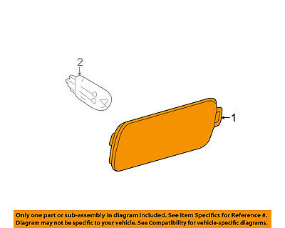 AUDI OEM 12-15 A7 Quattro-Side Marker Light Lamp Left (15a Lamp)