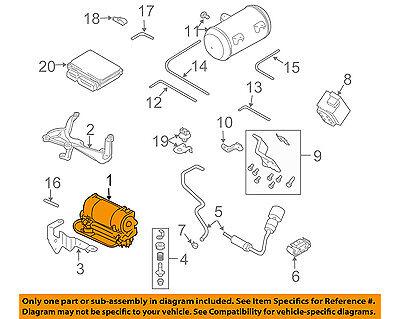 AUDI OEM 04-10 A8 Quattro Ride Control Shock-Rear Air Compressor 4E0616007D