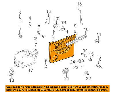 Mercedes MERCEDES-BENZ OEM Front Door-Interior Trim Panel Left 16372035701A68
