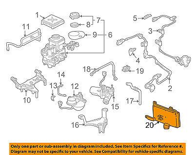 Acura HONDA OEM 97-01 NSX ABS Anti-Lock Brakes-Control Module 39900SL0043
