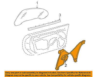 Chevrolet GM OEM 97-04 Corvette Door-Window Regulator 10344131
