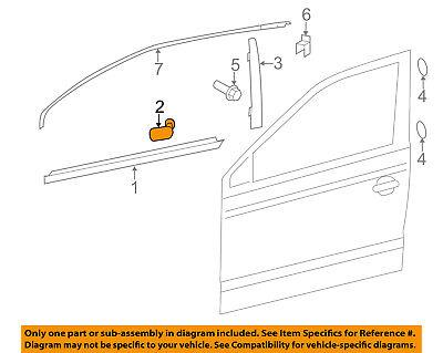 VW VOLKSWAGEN OEM 05-14 Jetta REAR DOOR-Belt Weather Strip Clip 1K0837199B