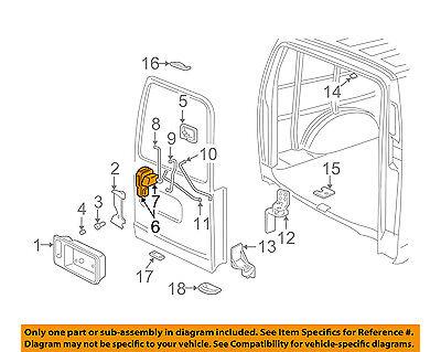 GM OEM BACK DOOR-Lock Assembly 22834664