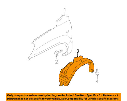 Fender Liner For 2011-2013 BMW X5 Front Left /& Right Front Section Set of 2