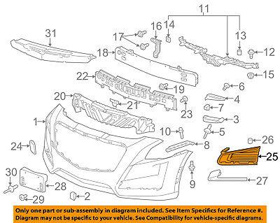 Cadillac GM OEM 14-18 CTS Front Bumper-Trim Bezel Left 23168675