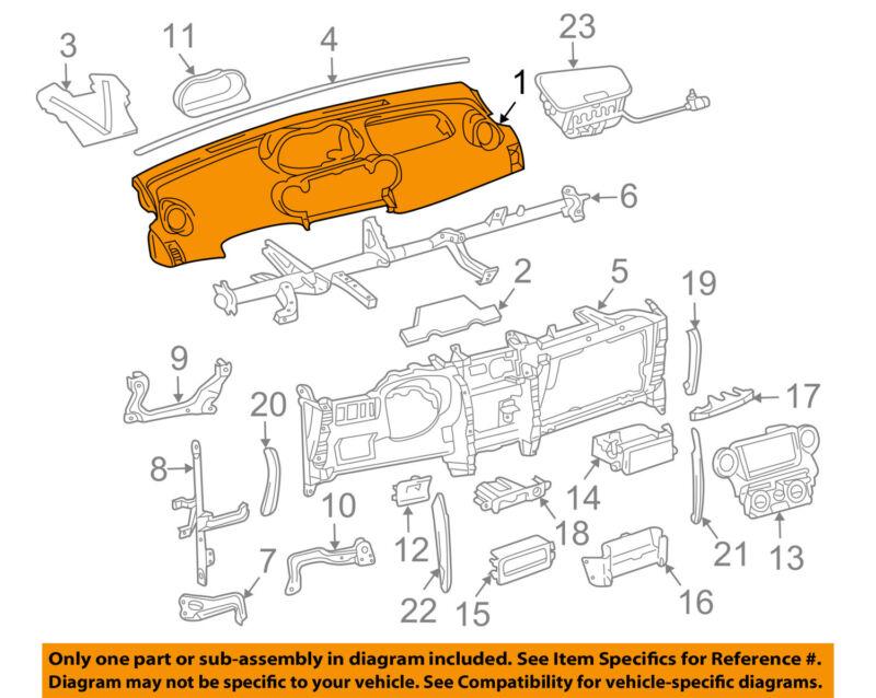 Scion Toyota Oem 04-06 Xa Instrument Panel Dash-upper Cover 5530152110b0
