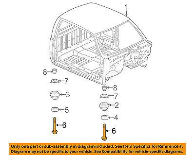 GM OEM Cab Assembly-Mount Bolt 11562587
