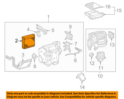 Toyota 4Runner 2003-2009 Evaporator Assembly Genuine OE OEM