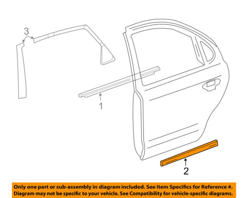 FORD OEM Explorer Rear Door Body Side-Lower Molding Trim Right FB5Z7825556BA