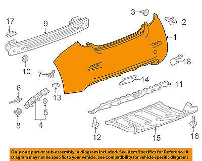 Chevrolet GM OEM 14-16 Spark EV Rear Bumper-Cover 95489506