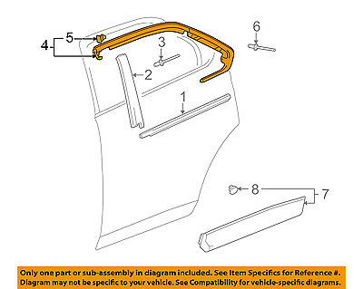 Chevrolet GM OEM 11-17 Equinox Exterior-Rear-Reveal Molding Right 23193179