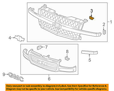 GM OEM-Grille Lower Retainer 15078238