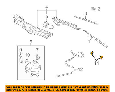 FORD OEM Windshield Wiper Washer-Nozzle Spray Jet F58Z17603A SOLD -