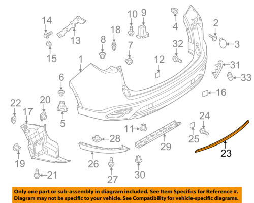 RM01610016 TK5050130A Front Bumper Molding Lh For CX-9 16-18 Fits MA1046103