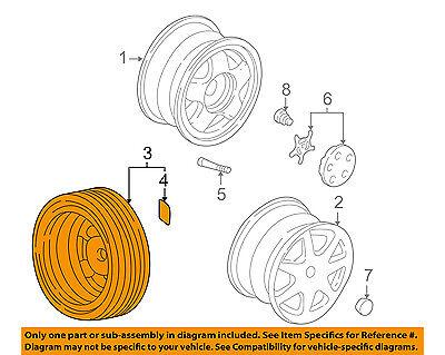 Acura HONDA OEM 97-05 NSX Wheel-Compact Spare 42750SL0A13