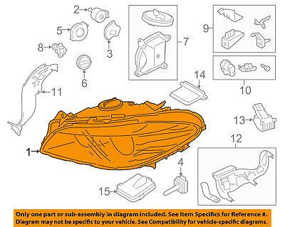 BMW OEM 13-16 ActiveHybrid 5-Headlight Head Light Headlamp 63117343906