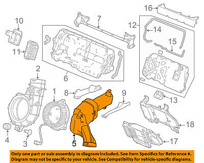 HONDA OEM 12-15 Civic Electrical-Outlet Duct 1J660RW0003