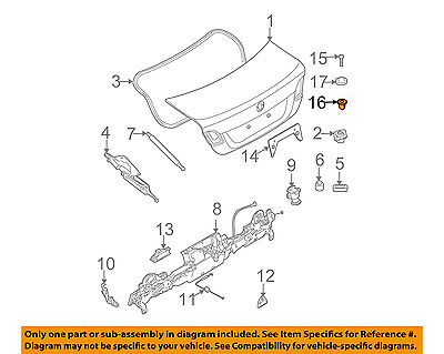 BMW OEM 07-16 328i Exterior-Rocker Molding Retainer Nut 51127020321