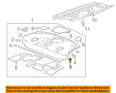 Cadillac GM OEM 14-18 CTS INTERIOR-REAR BODY-Package Tray Trim Clip 11611339