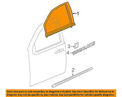 Cadillac GM OEM 07-10 Escalade Front Door-Reveal Molding Right 20772074